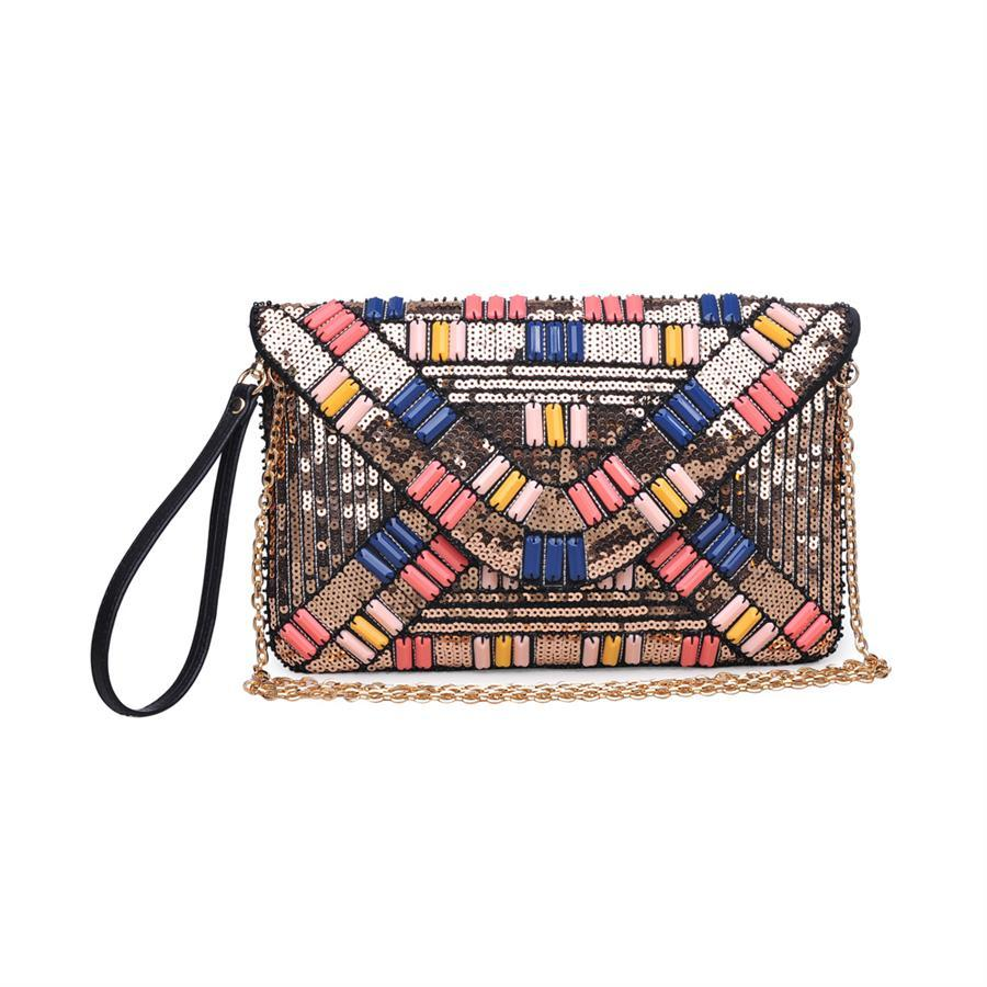 Jazz Clutch by Urban Expressions, Gold