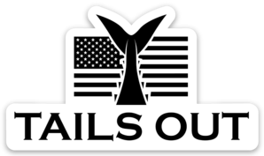 TailsOut Flag Sticker