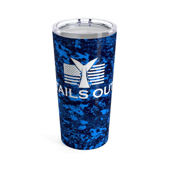 Tails Out 20oz Camo Tumbler (Blue)