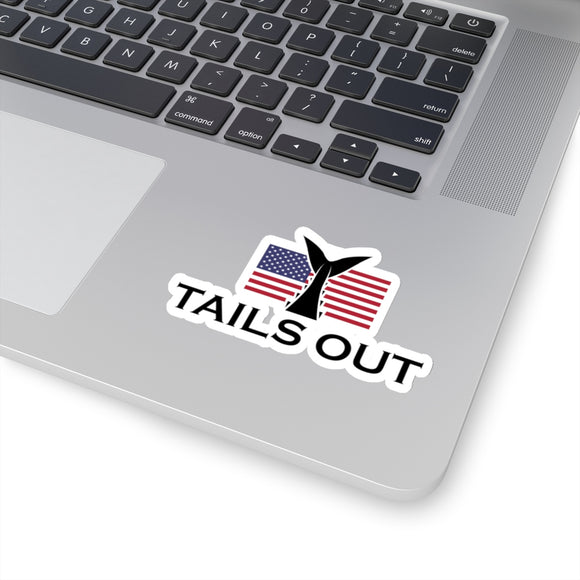 Tails Out Flag Kiss-Cut Stickers, All Sizes
