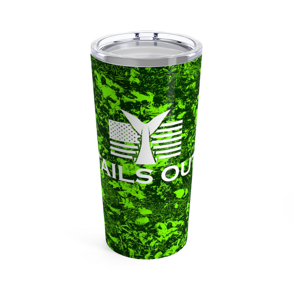 Tails Out 20oz Camo Tumbler (Green)