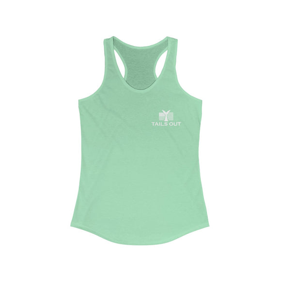 Tails Out Women's Ideal Racerback Tank