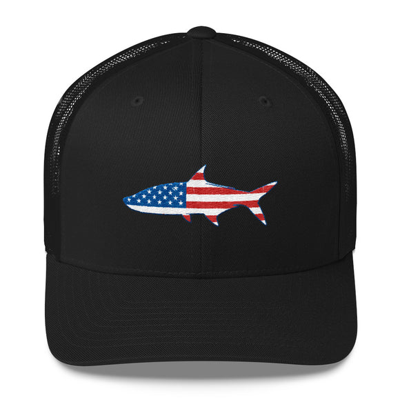 Patriotic Tarpon Trucker Cap. *Click For More Colors*