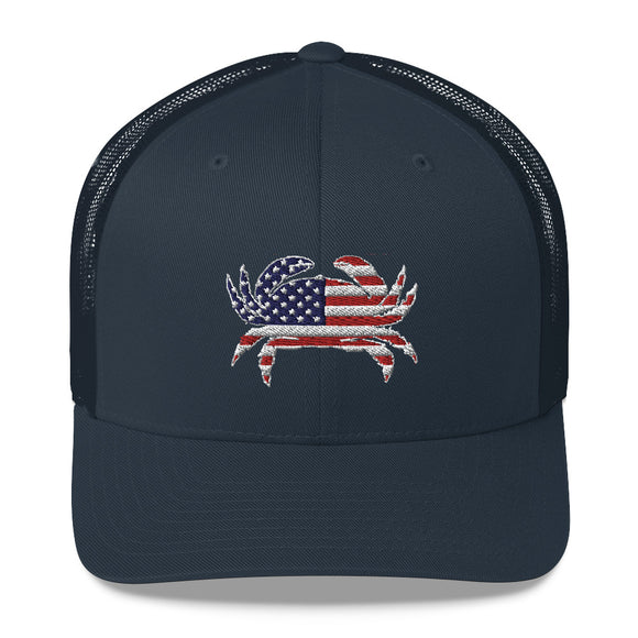 Patriotic Crab Trucker Hat