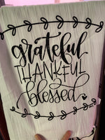 TEA TOWEL - Grateful*Thankful*Blessed