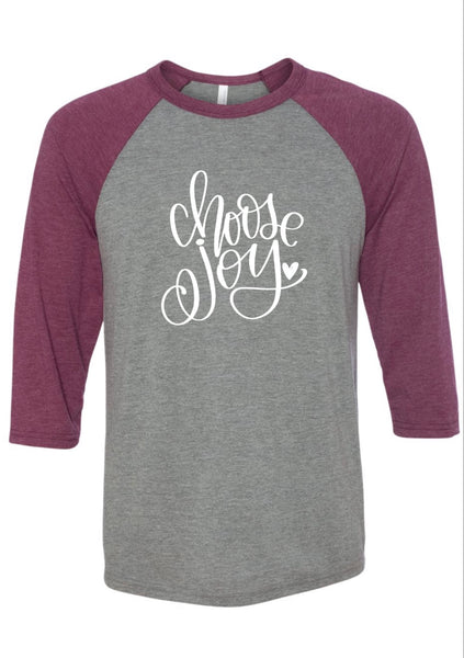 TEE(raglan) - Choose Joy