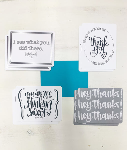 Card Set - THANK YOU (teal)