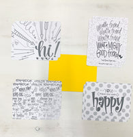 Card Set - HAPPY MAIL (yellow)
