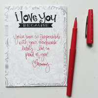 NOTEPAD - ILY because