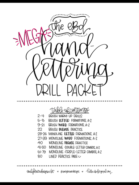 MEGA Hand Lettering Drills Packet