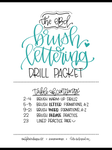 BRUSH Lettering Drills Packet