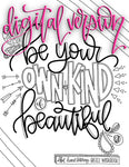 Hand-lettering DIGITAL Workbook