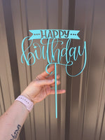"Cake topper - ""happy birthday"""