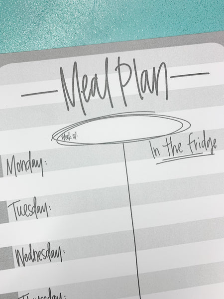 NOTEPAD-Meal Plan