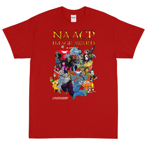 "Exotic Gourmet ""NAACP"" red tee"