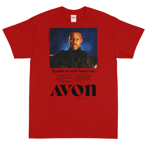"Exotic Gourmet ""Avon"" red tee"