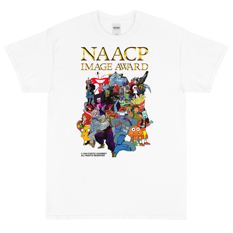 "Exotic Gourmet ""NAACP"" white tee"