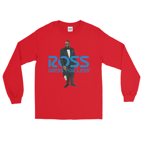 "Exotic Gourmet ""Ross"" red long sleeve tee"