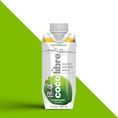 CocoLibre Organic Pineapple Coconut Water 330ml - 12/330ml bottles