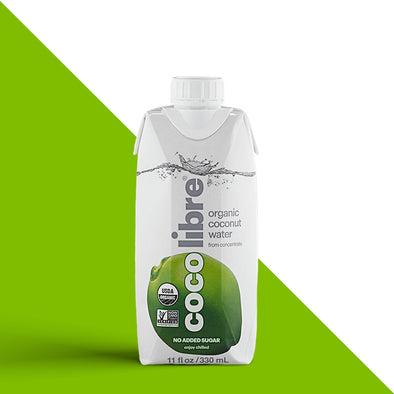 CocoLibre Organic Coconut Water 330ml - 12/330ml bottles