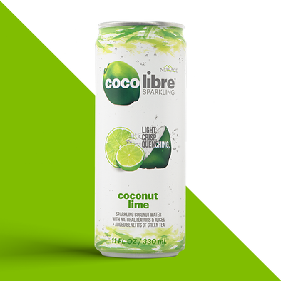 Coconut Lime Sparkling, 12 cans
