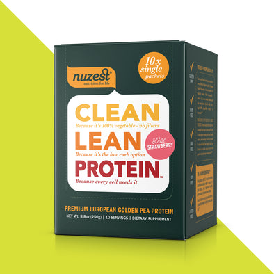 10-pack Nuzest Clean Lean Protein: 25 gram single Pack Box
