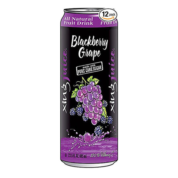Xing Juice Blackberry Grape 23.5oz. Can - 12 Pack