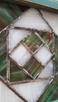 Green Geometric Stained Glass