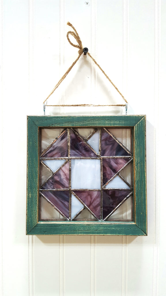 Purple Geometric Stained Glass