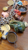 Clay Miniatures & Coins on Sterling Chain