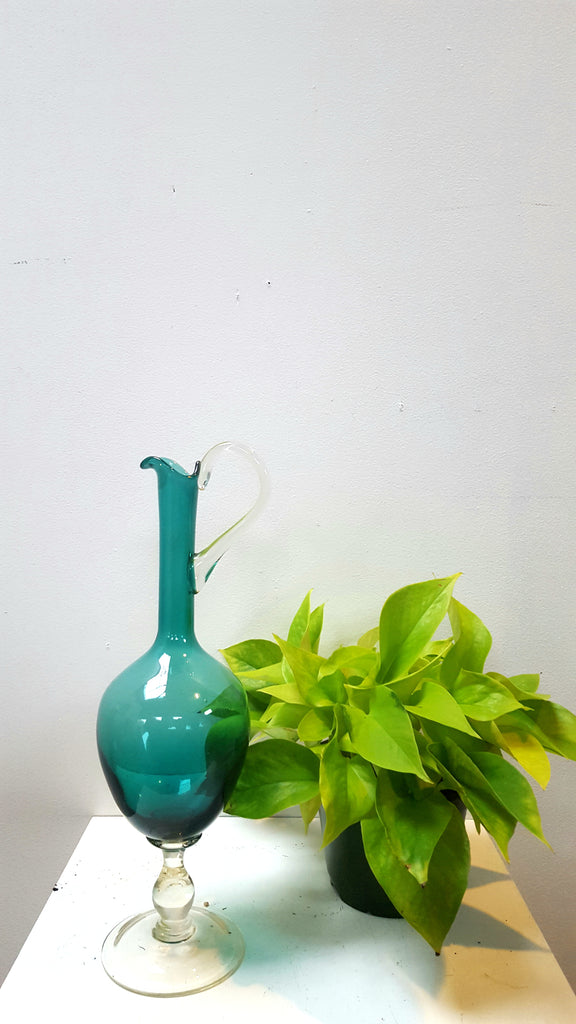 Vintage Hand-blown Italian Glass with Applied Handle