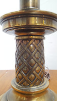 Heavy Brass Torch Lamp