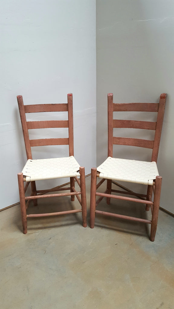 Pair of Antique Ladderback Chairs