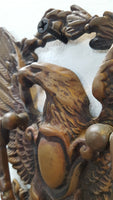 Cast Iron Eagle Doorknocker with Antique Brass Finish, 1800s