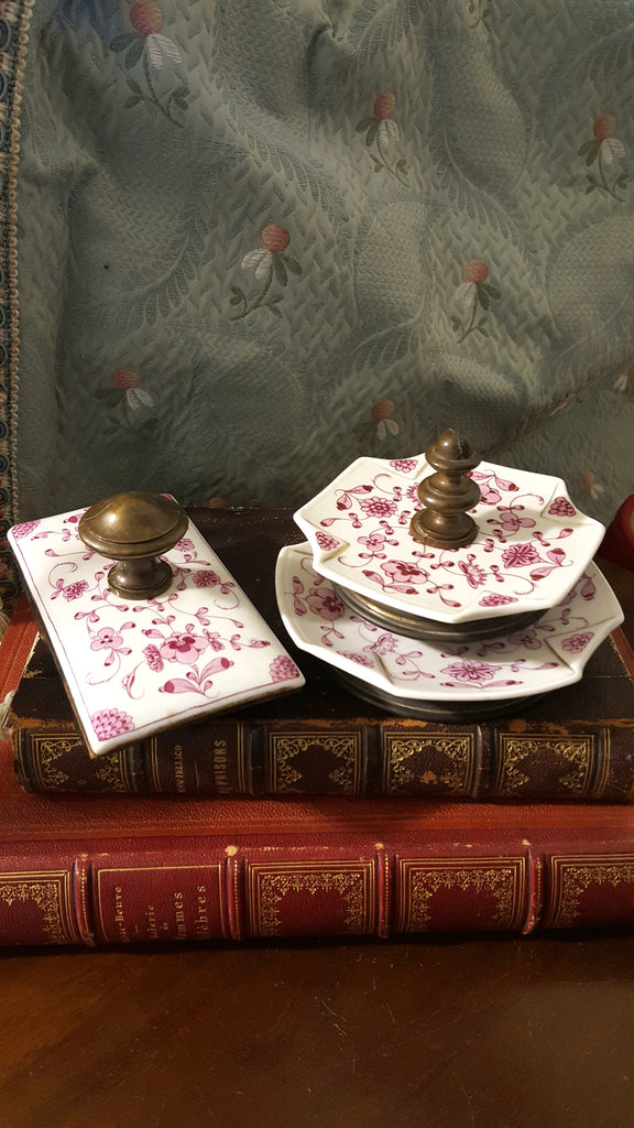 Vintage Three-Piece Inkwell Set
