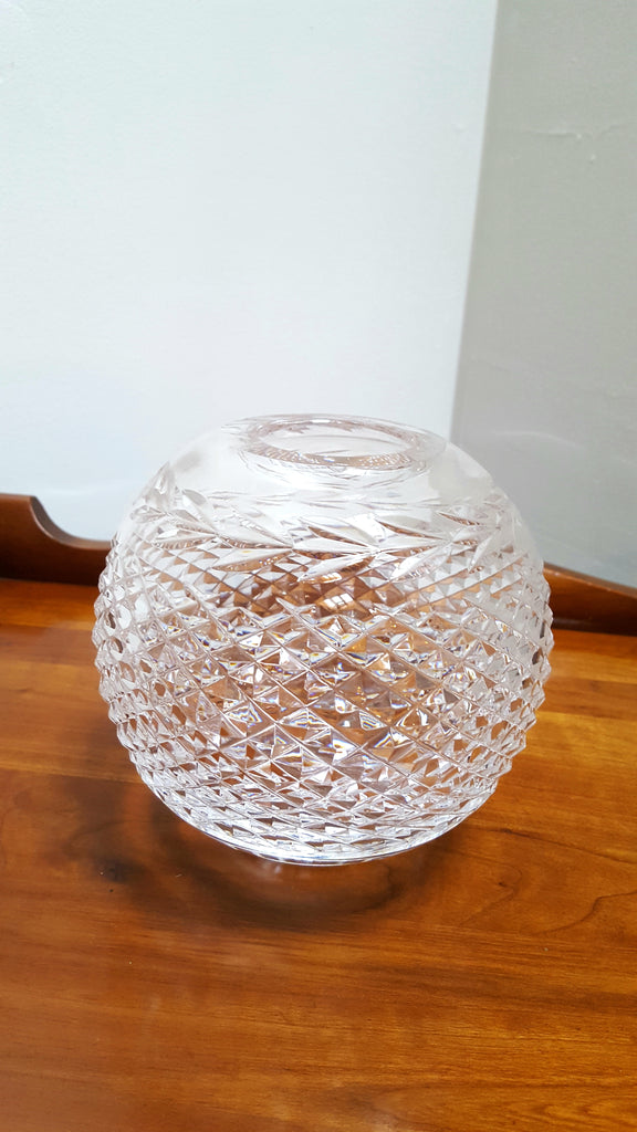 "Waterford ""Glandore"" Hand-Cut Crystal Rose Bowl"