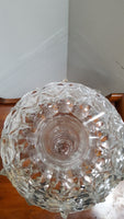 Rare Pairpoint Cut Crystal Lustre Vase with Prisms