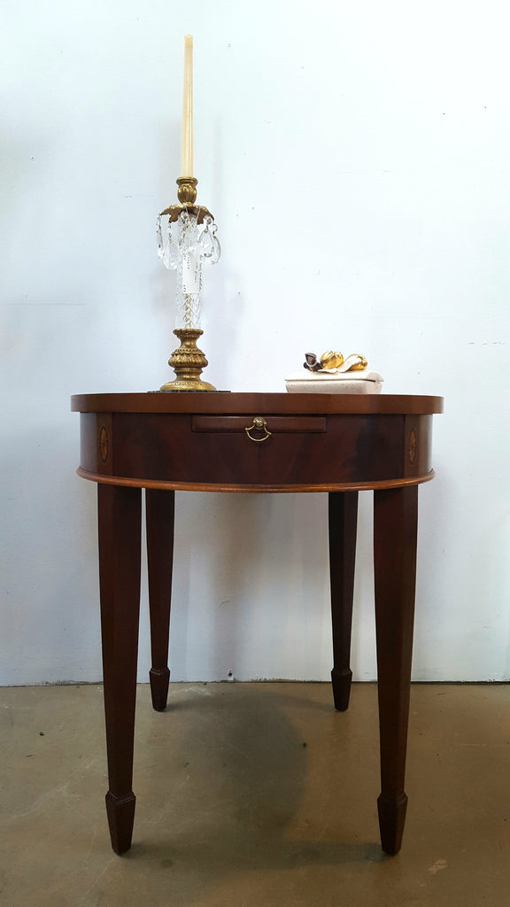 Mahogany Veneer Finish Table, Hekman