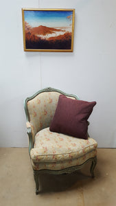 Louis XV Bergere with Custom Silk Upholstery