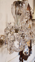 Wall-Mounted Hand-Cut Crystal Girandole