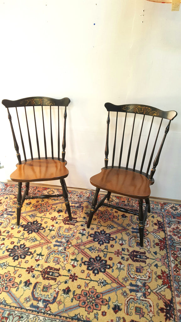 Pair of Vintage Windsor Hitchcock Chairs
