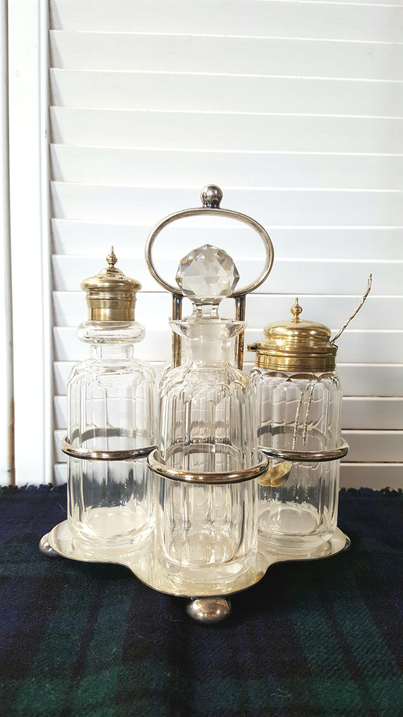 Cut Crystal Cruet Set