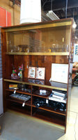 Entertainment Console Shelf Credenza with Smoked Glass