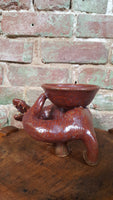 Pottery Dragon with Tricket Dish
