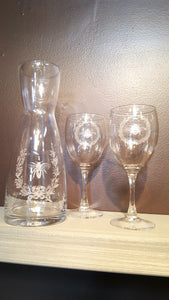 Laurel and Bee Wine Glasses