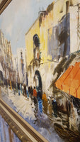 Street Scene in the City - Original Oil on Canvas