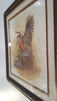 Reproduction Watercolor Print of Two Birds