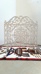 Cast Iron Fire Place Screen with Removable Feet