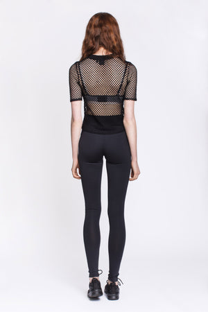 Black Mesh T-Shirt by Okayla