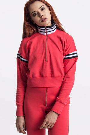 Coral Red Track Top by Okayla